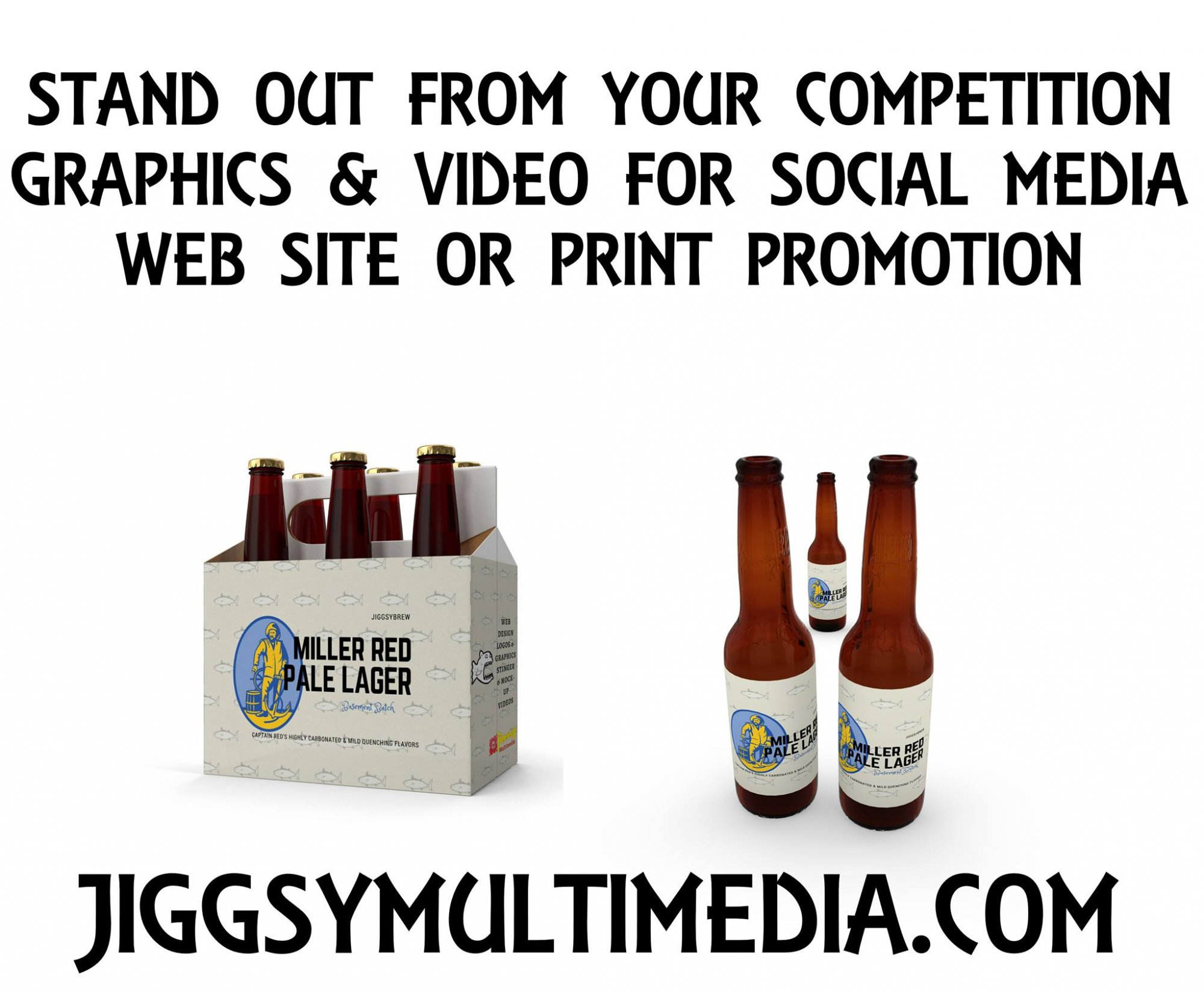 Custom label for virtual cover of the cans.  A virtual cover such as bottles and cans that may represent your business is an excellent image tool to promote something new.